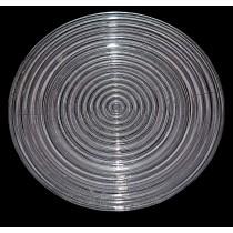 "Hocking Manhattan Crystal 10"" Dinner Plate"