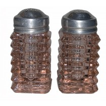 Hocking Manhattan Pink Salt and Pepper Shakers 1930s