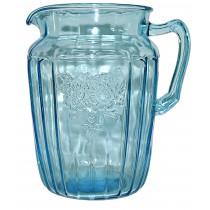 Hocking Mayfair Blue Large 80 oz Ice Tea Pitcher