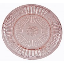 "Hocking Mayfair Pink 6 3/4"" Round Sherbet Plate"