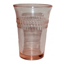 Hocking Roulette Pink Flat Juice Tumbler