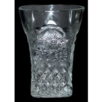 Indiana Pineapple and Floral Crystal Tumbler
