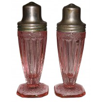 Jeannette Adam Pink Footed Shakers - Original Lids