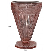 Jeannette Adam Pink Footed Water Tumbler