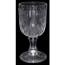 "Jeannette Crystal Iris and Herringbone 4 1/4"" Wine Goblet"
