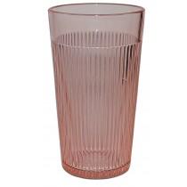 Jeannette Homespun Pink Flat Ice Tea Tumbler - SCARCE