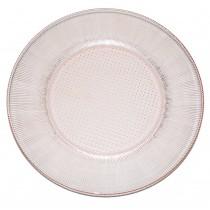 Jeannette Homespun Pink Dinner Plate
