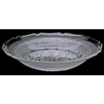 Jeannette Iris Crystal Vintage Hard to Find Flat Soup Bowl