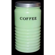 Jeannette Light Jadite / Jade-ite Ribbed Coffee Canister