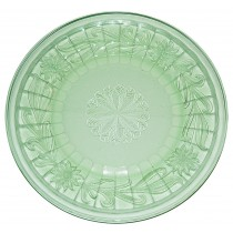 Jeannette Sunflower Green Dinner Plate - GREAT PATTERN AND COLOR