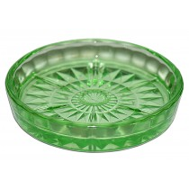 Jeannette Windsor Green Depression Glass Coaster