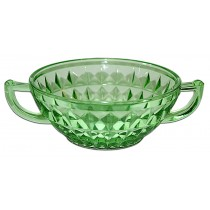 Jeannette Windsor Green Cream Soup Bowl