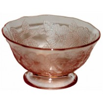 Macbeth Evans Dogwood Pink Depression Glass Sherbet