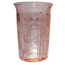 """MacBeth Evans American Sweetheart Pink 3 1/2"""" Juice Tumbler"""