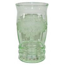 "MacBeth Evans Dogwood RARELY FOUND Green 4 3/4"" Tumbler"