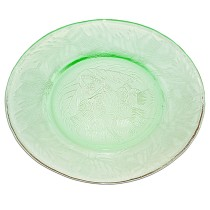 "MacBeth Evans Thistle Green 8"" Luncheon Plate"