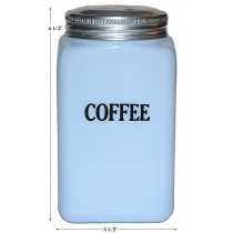 McKee Delphite No. 14 - 28 Ounce Coffee Canister (Caddy Jar) With Screw Lid - RARE