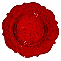 "McKee Rock Crystal  Ruby Red 8 1/2"" Salad Plate"
