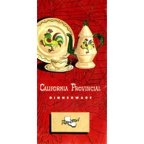 Metlox Poppytrail California Provincial Original 1953 Pamphlet / Catalog