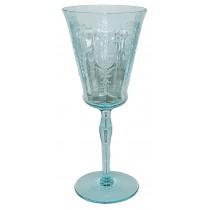 Morgantown Sunrise Medallion Blue #7360 Water Goblet