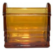 Paden City Deep Amber Glass #210 Napkin Holder