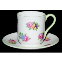 "Shelley ""Yutoi"" Floral Bouquet Miniature Cup and Saucer Set  (Canterbury Shape)"