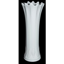 "Westmoreland Paneled Grape White Milk Glass Swung 14 1/2"" Vase"