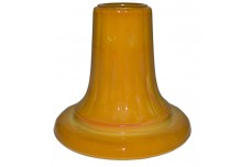Akro Agate Pumpkin (Orange) Tall Ribbed  Candlestick HARD TO FIND!!