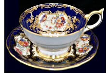 Aynsley Aristocrat Bone China #7700 Cobalt Cup and Saucer / Gold Trim
