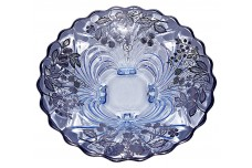 "Cambridge Moonlight Blue Caprice #62 - 12 3/4"" Flared Bowl Sterling Silver Fruit Overlay"