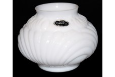 "Cambridge Caprice White Milk Glass 3 5/8"" Vase Smooth Top & Original Sticker"