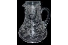 Cambridge Rose Point Crystal  #103 Handled Guest Set / Tumble Up