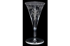 Central Glass Works #22 Floral Trumpets Tapered Cordial / Wine Goblet