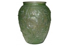 "Consolidated La Fleur / Poppy Green Wash 10"" Vase - Enormous!"