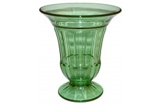 Duncan and Miller Green #55 Spicer Deco Large Footed Vase