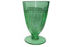 Duncan & Miller Spiral Flutes Green Hard to Find  9 oz. Footed Water Tumbler