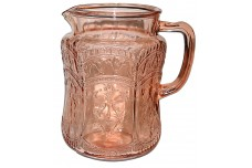 Federal Patrician / Spoke Pink Pitcher / Jug - MOLDED HANDLE