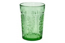 Federal Glass Company Sharon Green Thick Flat Water Tumbler