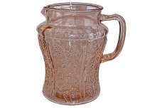 Federal Glass Company Sharon Pink No Ice Lip Jug / Pitcher