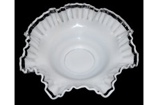Fenton Crystal Crest Scarce Crimped Bowl