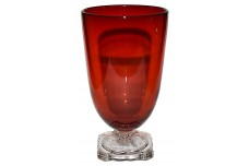Fenton Elizabeth Ruby #1639 Footed Tumbler with Crystal Foot
