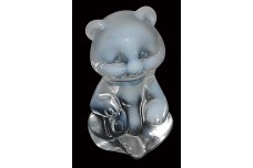 Fenton French Opalescent #5151 Sitting Bear Figure 1980s