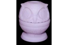 Fenton Lavender Satin #5108 Owl Fairy Lamp / Light