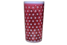 Fenton Polka Dot Cranberry Opalescent Hard to Find Ice Tea Tumbler