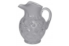 Fenton Silvertone Etch Crystal Satin #1353 PItcher / Jug