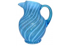 Fenton Spiral Optic Blue #1353 RARE Jug / Pitcher