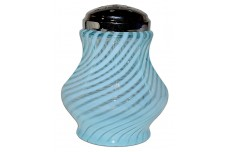 Fenton / Wright Spiral Optic Blue Opalescent #96-4 Sugar Shaker