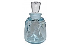 Fostoria #2561 Blue 6 3/4oz. Bath Bottle / Cologne / Perfume