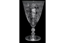 Fostoria  Chintz #6026 9 oz. Low Footed Water Goblet