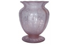 Fostoria Brocade Grape Wisteria #2369 Footed Vase - STUNNING